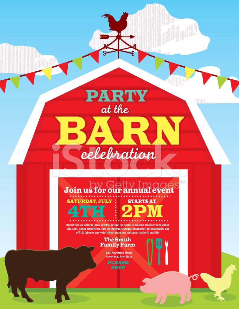cute barn and farm animal party