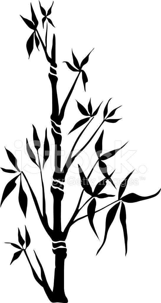 silhouette de bambou noir image