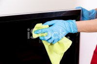 Cleaning A Flat Screen TV Stock Photos - FreeImages.com