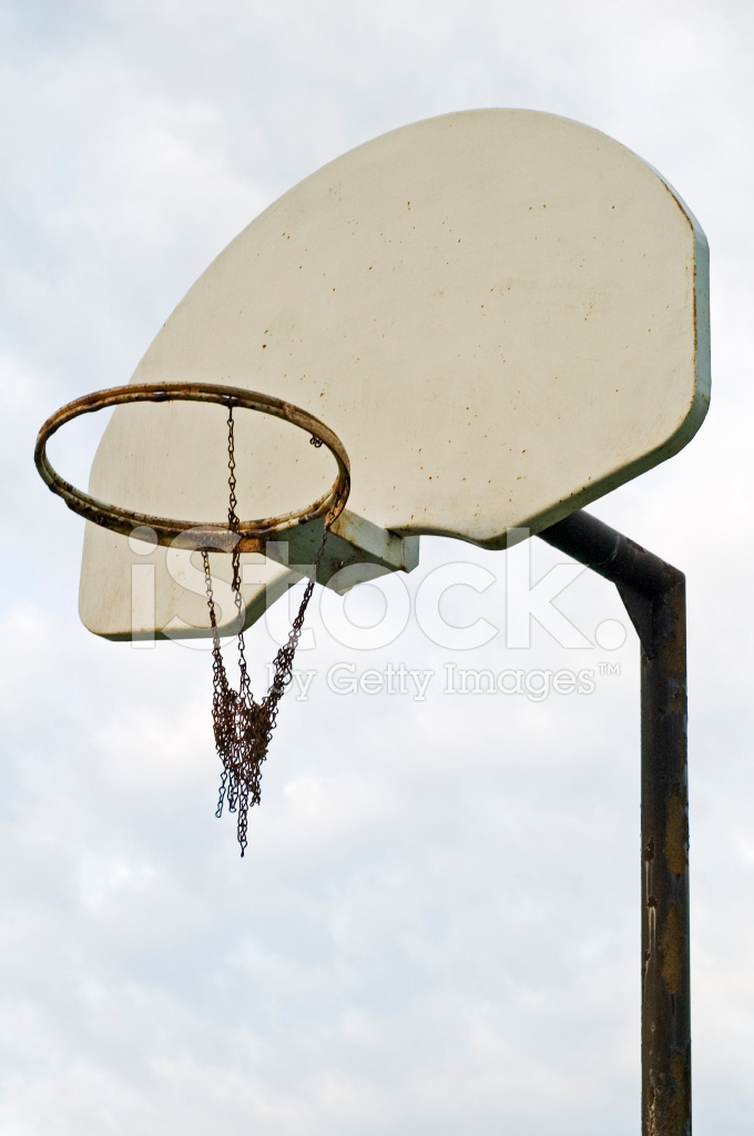Basketball Net With Broken Chain Against Sky Stock Photos - FreeImages.com