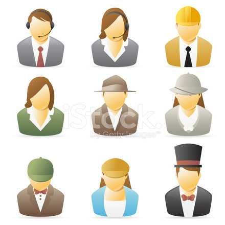 People Icon Occupations Set 2 Stock Vector  Freeimagescom
