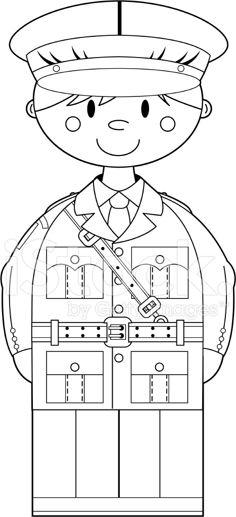 Colour IN Ww2 British Army Officer Stock Vector