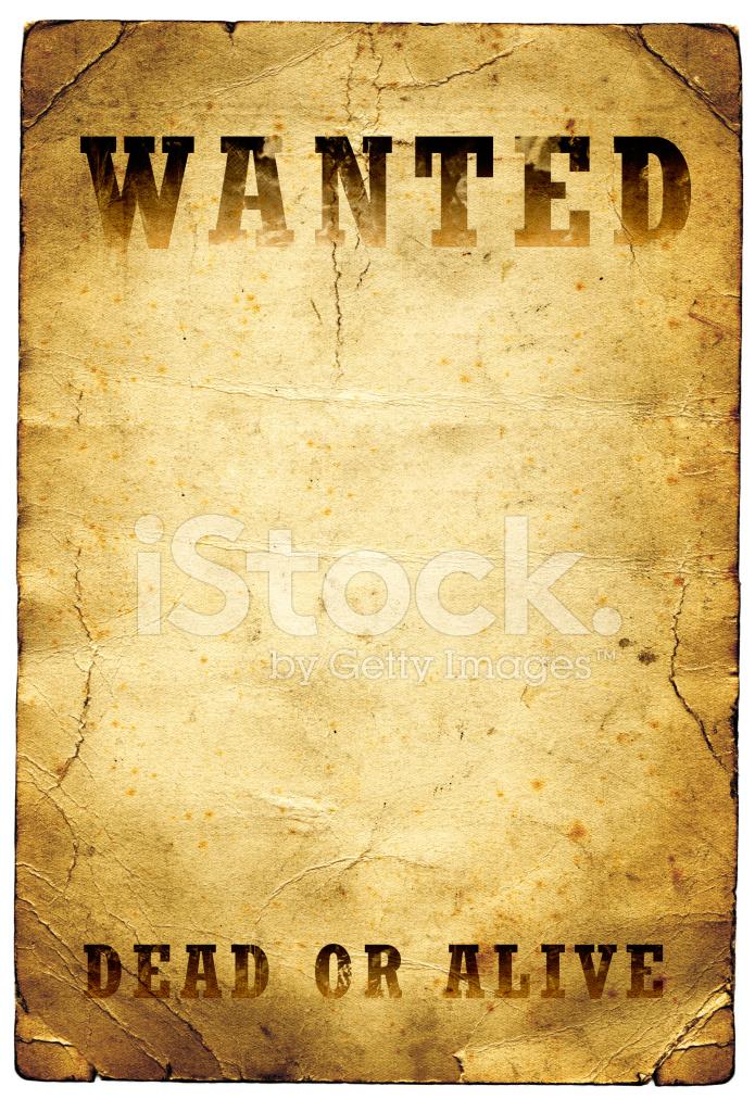 Wanted Dead OR Alive Poster Wilde Westen Stockfotos