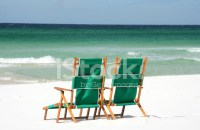 Empty Beach Chairs Facing The Water Stock Photos ...