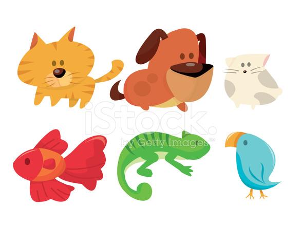 cartoon pets stock vector