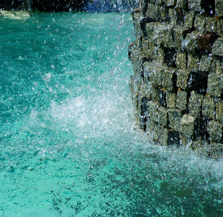 Water and wall