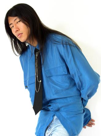 chinese boy with punk nektie