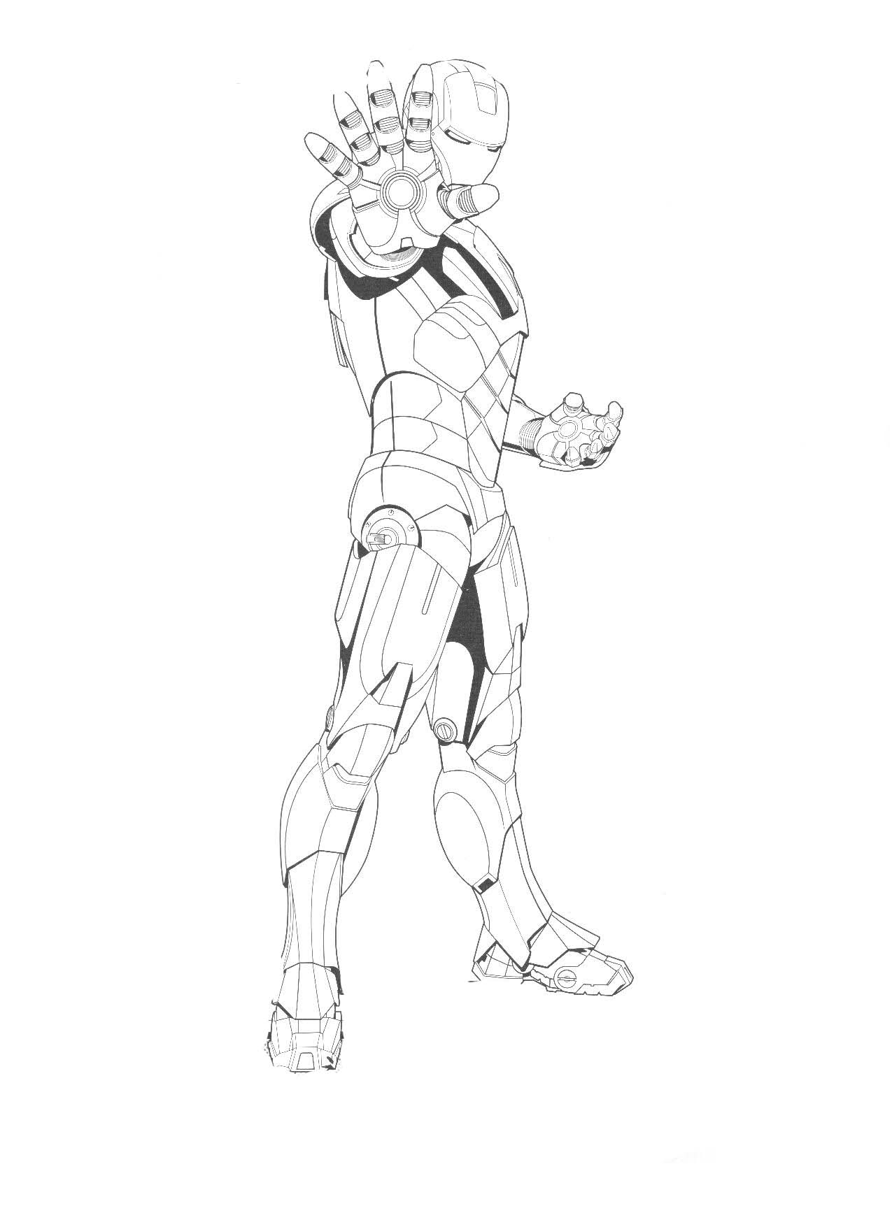 Man From Iron Coloring Page
