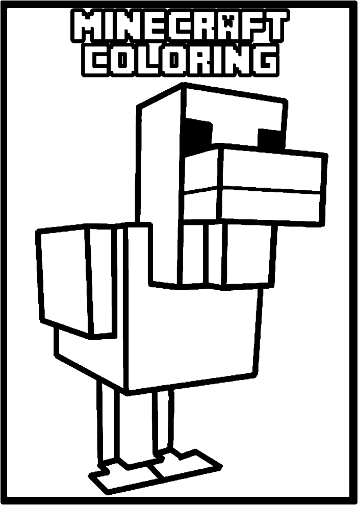 Minecraft online coloring pages 4