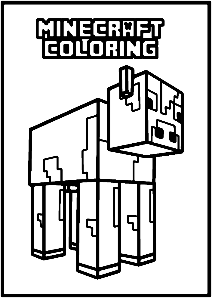 Minecraft online coloring pages 5