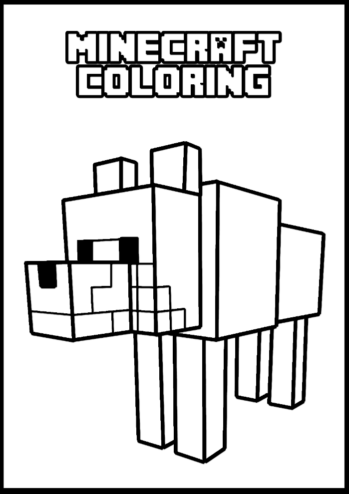 Minecraft online coloring pages 7