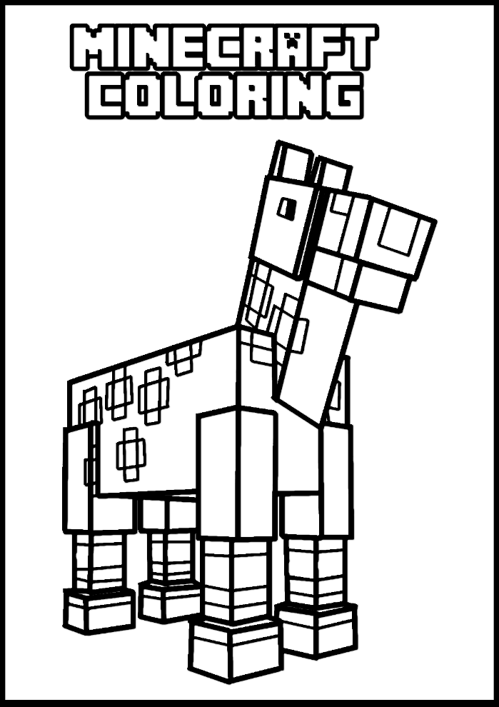 Minecraft online coloring pages 9