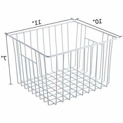 SANNO Freezer Wire Storage Organizer Basket, Household