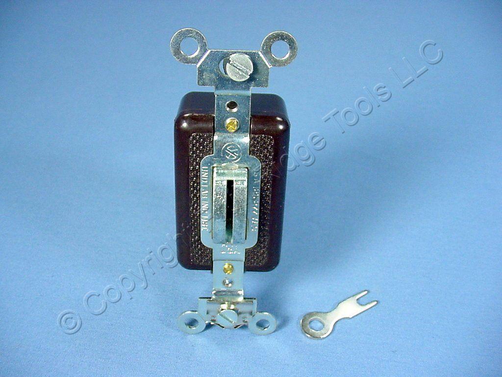 Arrow Hart Locking Toggle Wall Light Switch 15a 3way