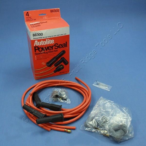 Autolite 86300 Spark Plug Wire Set 4 Cylinder Universal Cut Length