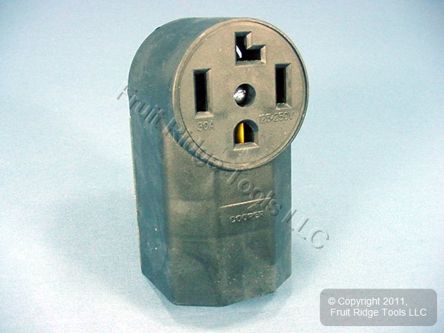 Cooper Surface Mount Dryer Outlet Receptacle 14-30 30A 125