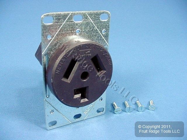 cooper gfci outlet wiring diagram two pickup guitar flush mount dryer receptacle 30a 125/250v nema 10-30r 38b bagged | ebay