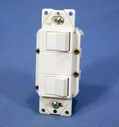 cooper white double rocker wall light switch decorator single pole 15a [ 1504 x 1504 Pixel ]