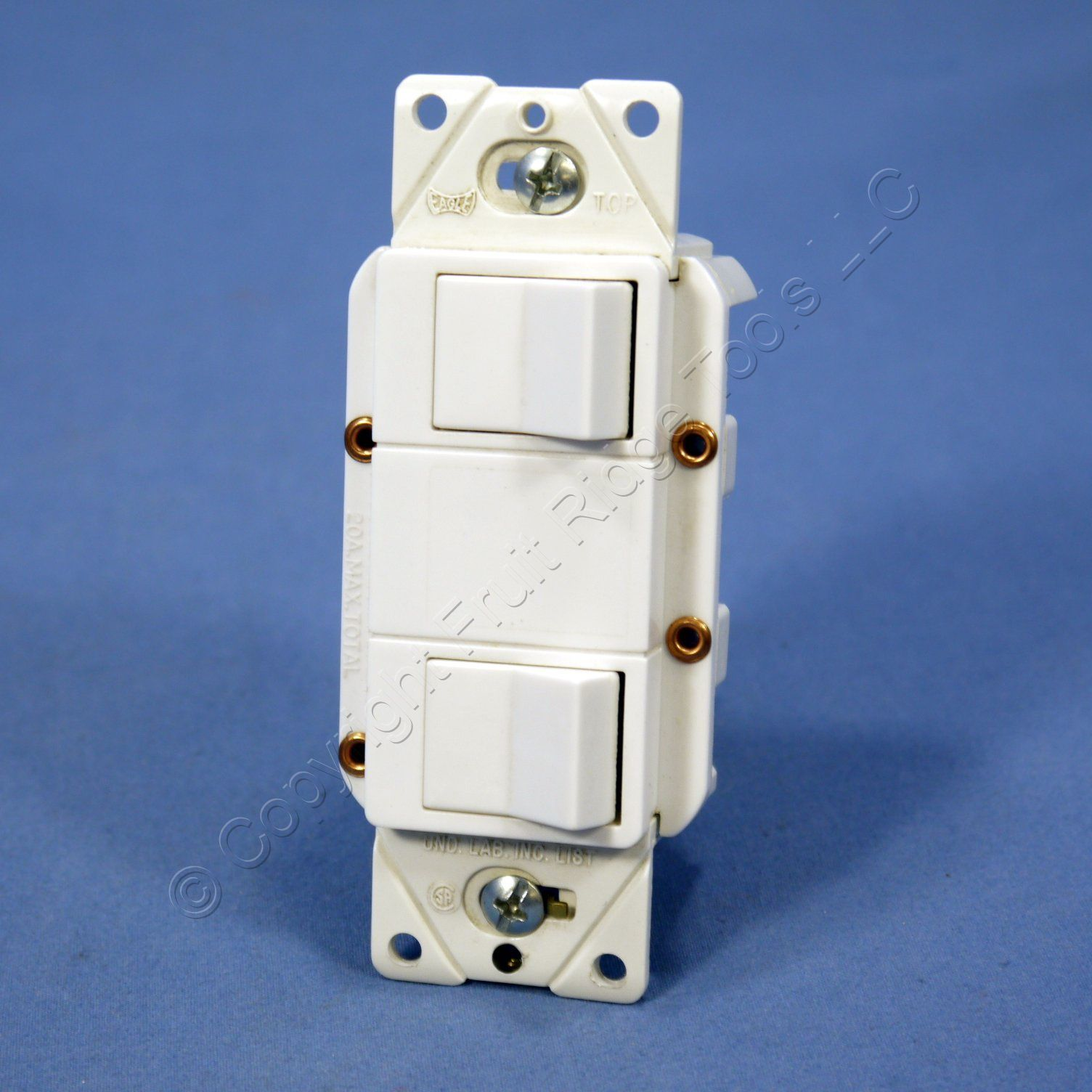 hight resolution of cooper white double rocker wall light switch decorator single pole 15a
