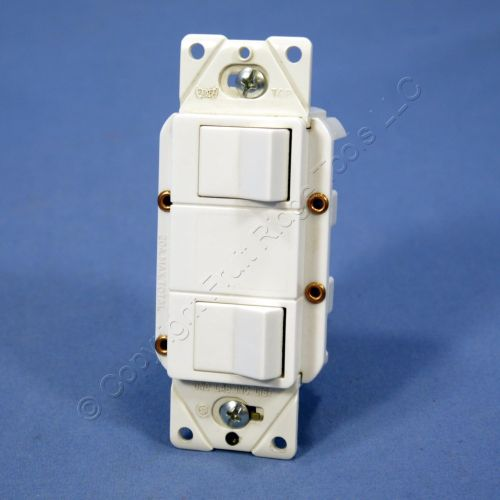 small resolution of cooper white double rocker wall light switch decorator single pole 15a