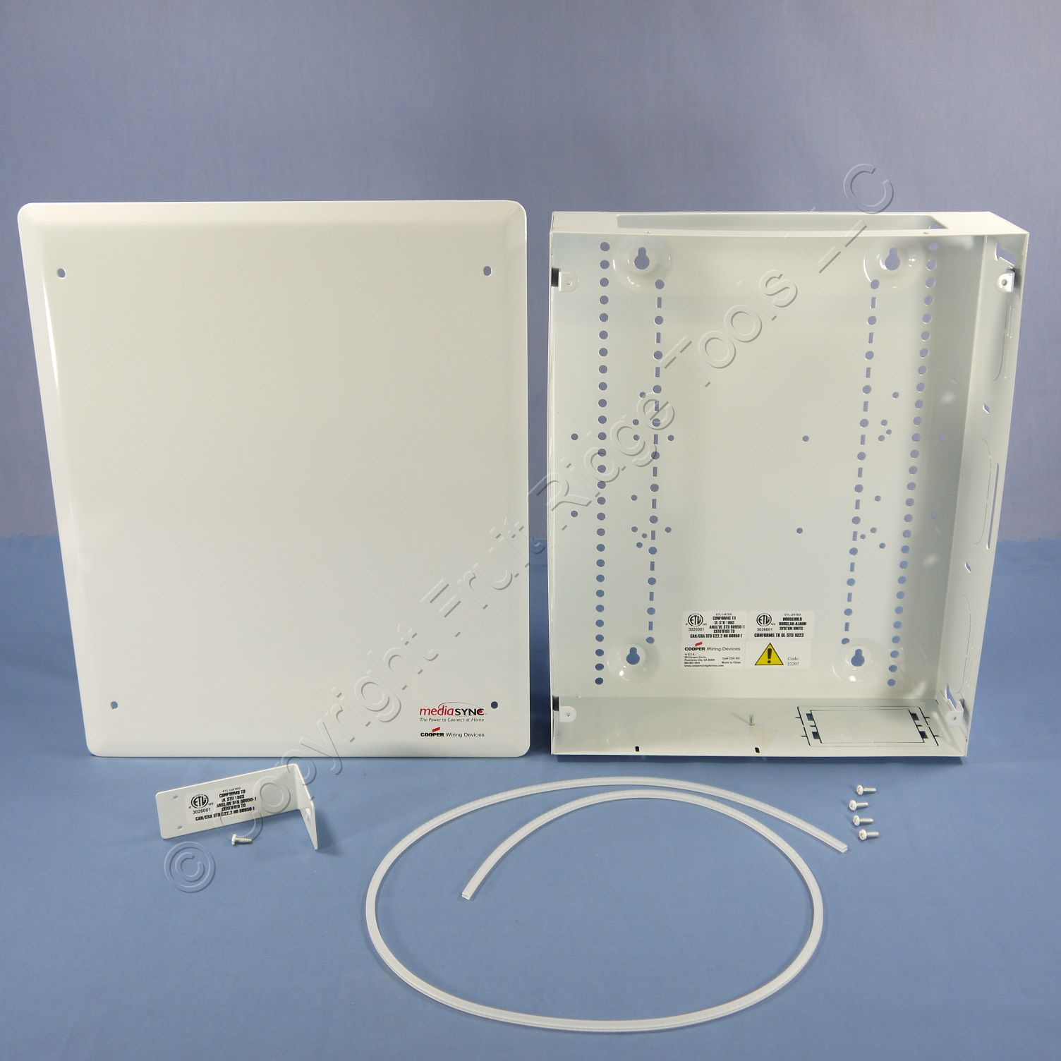 Cooper 15quot White Structured Media Center Wiring Enclosure Panel With