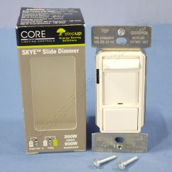 Leviton Slide Dimmer Wiring Diagram Johnson Controls Cooper Skye Light Almond Led Cfl 600w Inc Halogen