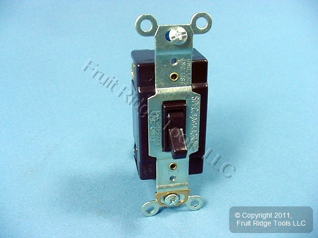 Eagle Electric Brown HEAVY DUTY 4-WAY Toggle Light Switch