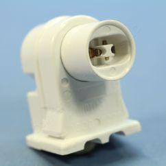 Fluorescent Light Holder 2006 Chevy Cobalt Alternator Wiring Diagram Leviton High Output T8 T12 Lamp