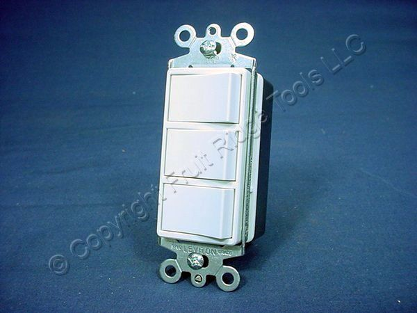 Triple Light Switch Wiring Diagram Leviton 1755 Triple Rocker