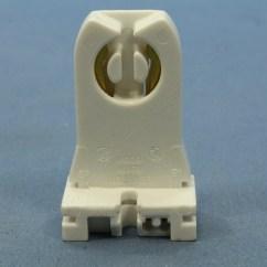 Fluorescent Light Holder Fan Switch Wiring Diagram Leviton Lampholder Socket T8 T12 Medium