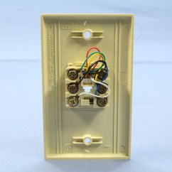 Telephone Wall Socket Wiring Diagram Digital Amp Meter Leviton Ivory 6 Wire Modular Jack Plate