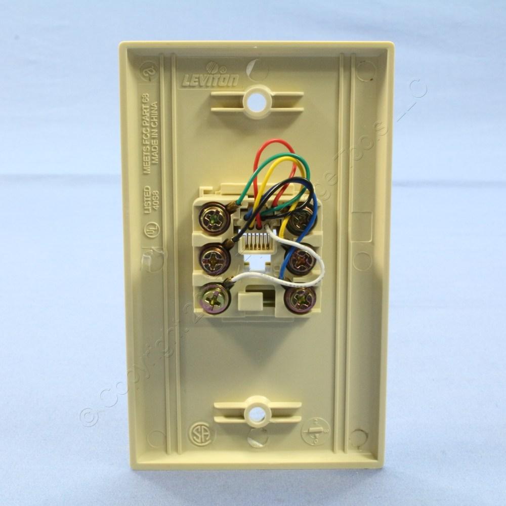 medium resolution of leviton ivory 6 wire modular jack telephone wall plate telephone modular jack wiring diagram telephone modular jack wiring diagram