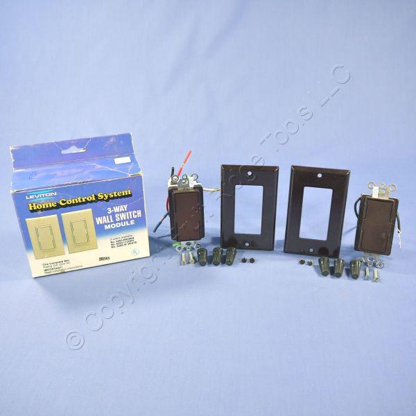 2 Leviton Dhc 3- Master Switch Brown Decora 6293