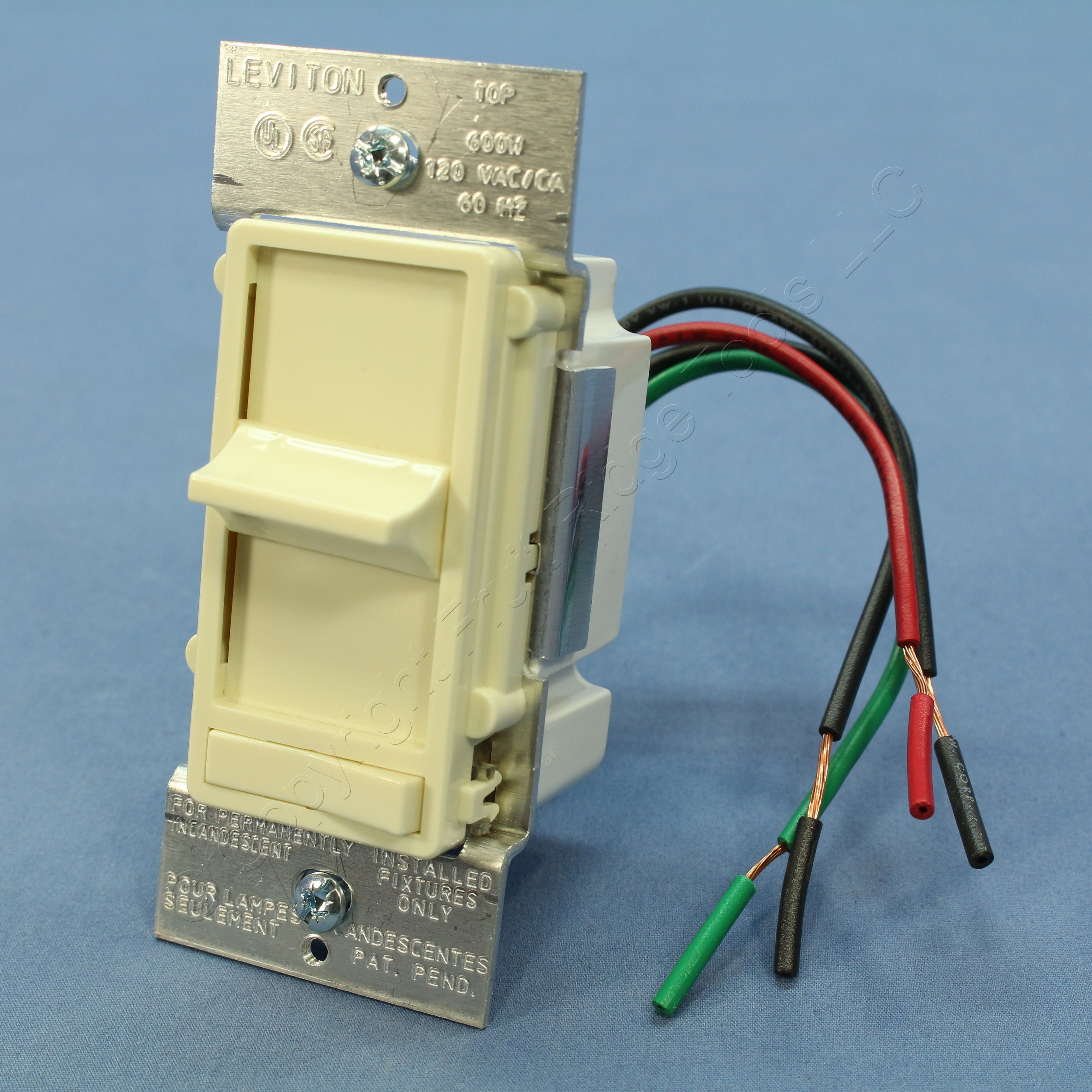leviton 3 way slide dimmer wiring diagram 6 trailer light new almond decora lighted preset