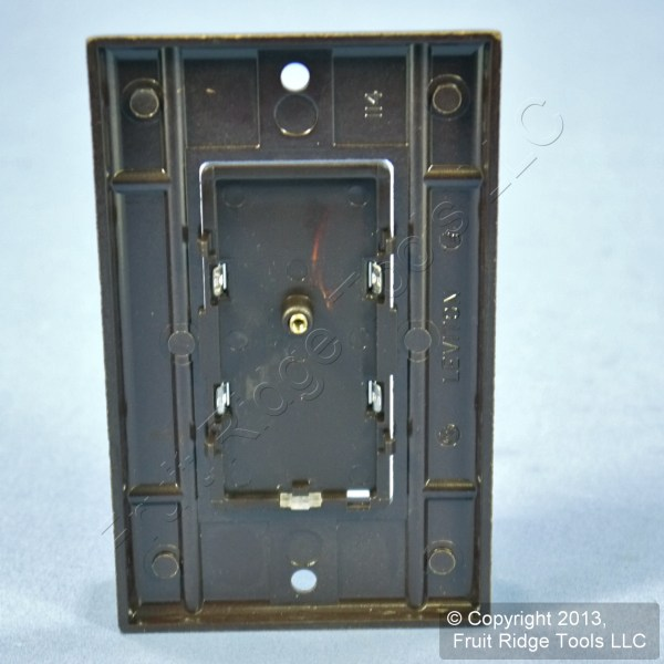 Leviton Brown With Gold Pad True Touch Dimmer Color