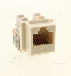 new wiremold ivory keystone cat5e universal jack rj45 t568a b wiring ac c5ekey [ 1277 x 1277 Pixel ]