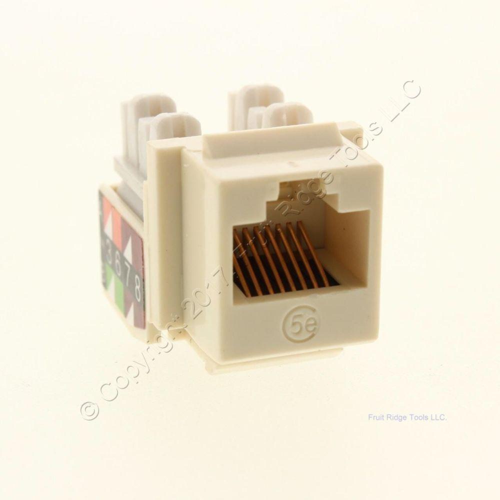 medium resolution of new wiremold ivory keystone cat5e universal jack rj45 t568a b wiring ac c5ekey