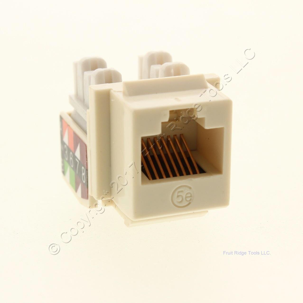 hight resolution of new wiremold ivory keystone cat5e universal jack rj45 t568a b wiring ac c5ekey
