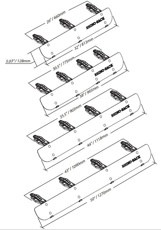 Rhino-Rack Wind Fairing (for Vortex and Euro Racks
