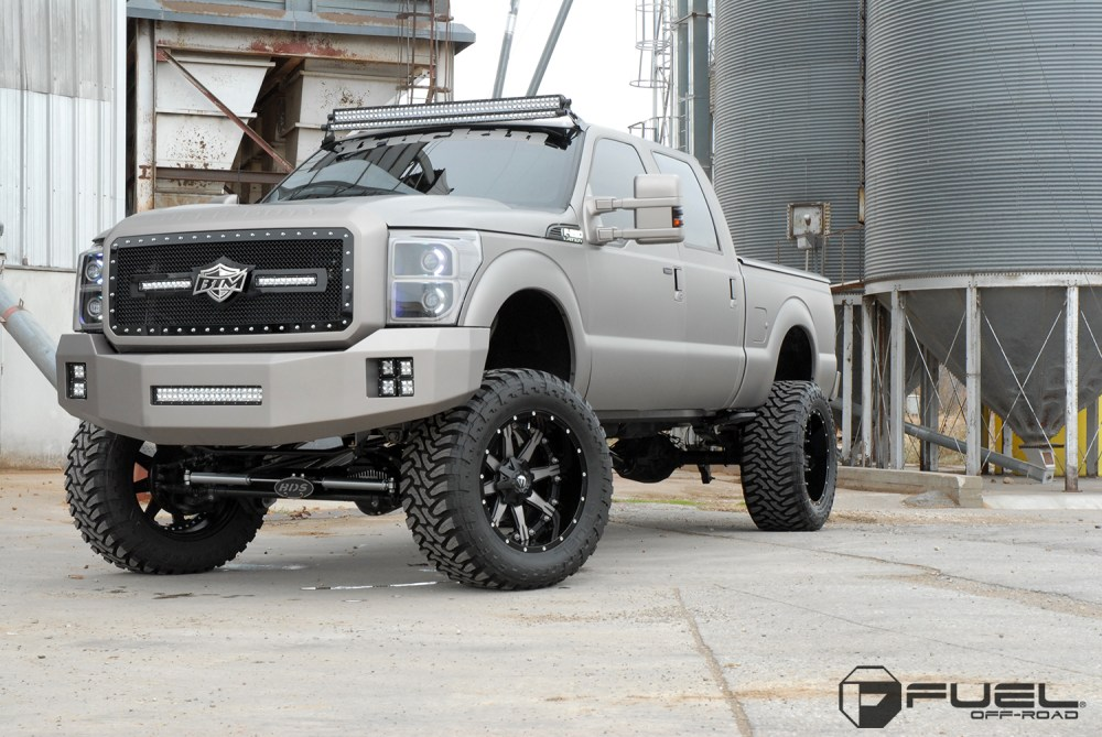 medium resolution of ford f 350 with fuel 2 piece wheels nutz d252