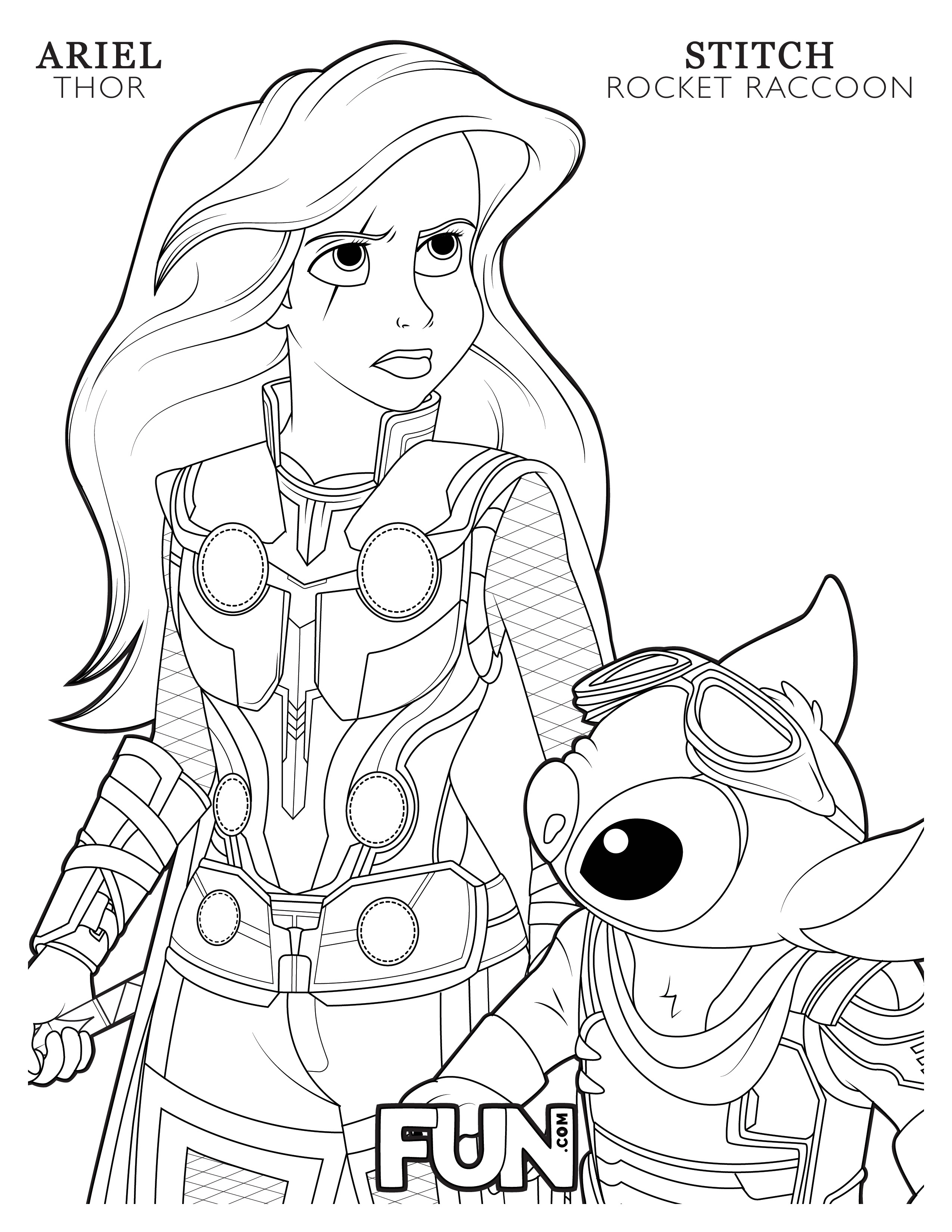 Feel the Magic With These Mashup Disney Coloring Pages