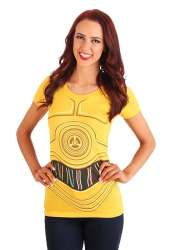 Womens Star Wars I Am C3PO Costume T-Shirt