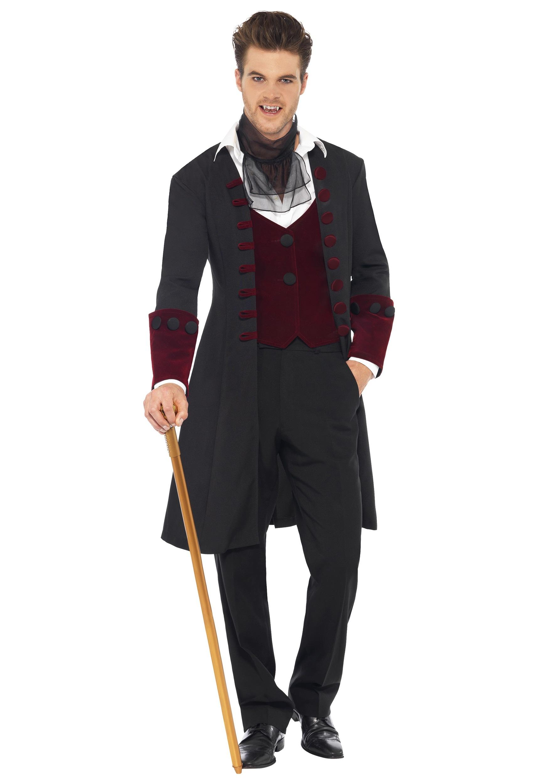Sexy Vampire Costume Men : vampire, costume, Adult, Gothic, Vampire, Costume