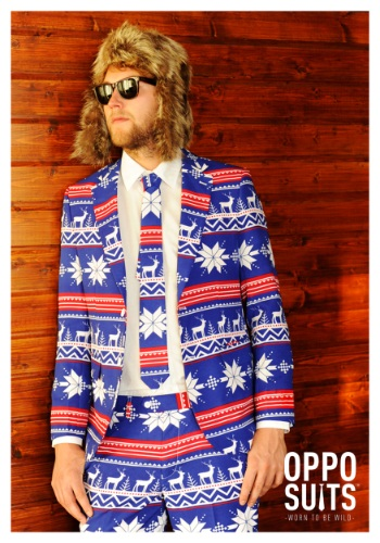 Men's OppoSuits Ugly Christmas Sweater Suit
