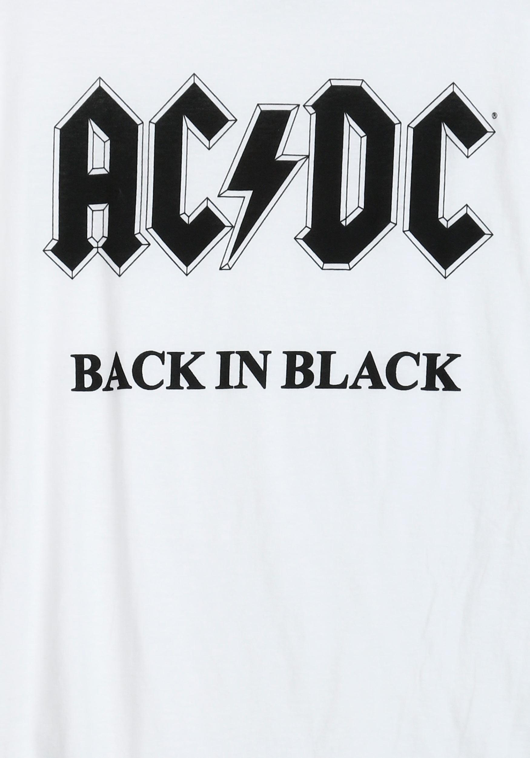 AC/DC Back in Black White Men's T-Shirt