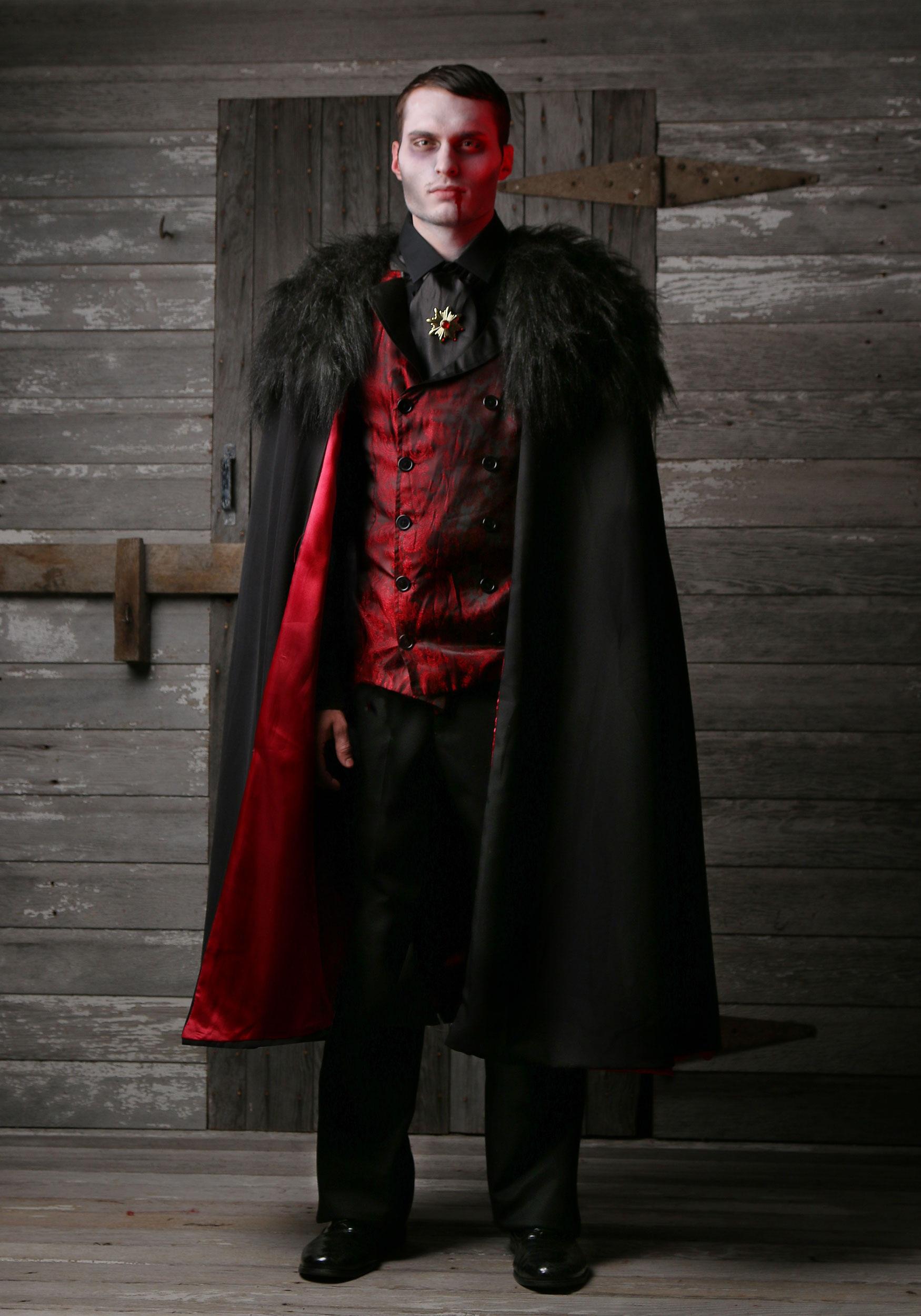 Sexy Vampire Costume Men : vampire, costume, Deluxe, Men's, Vampire, Costume