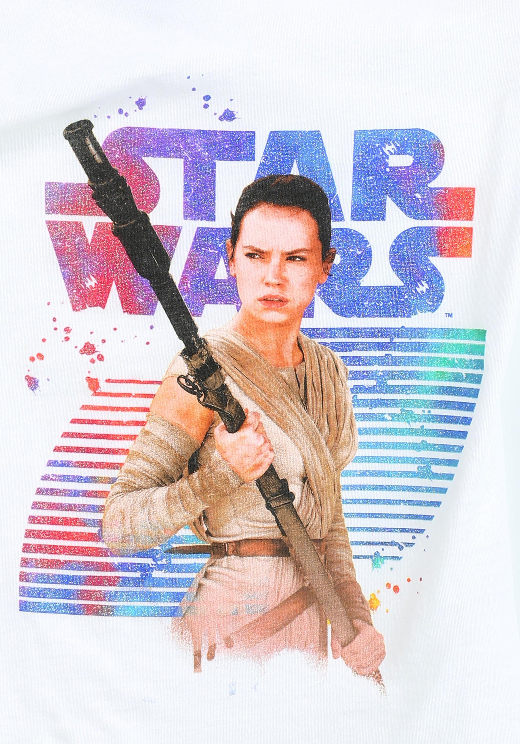 Star Wars Ep 7 Rey Logo Girls T Shirt