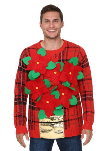 Poinsettia Ugly Christmas Sweater