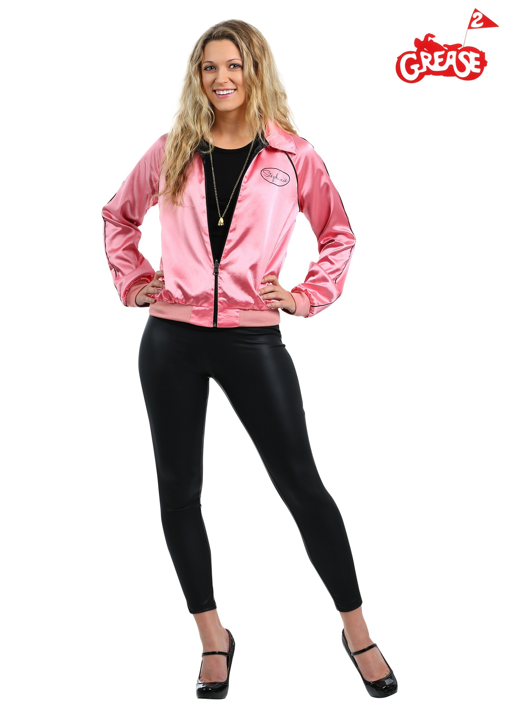 Stephanies Pink Ladies Jacket Costume from Grease 2