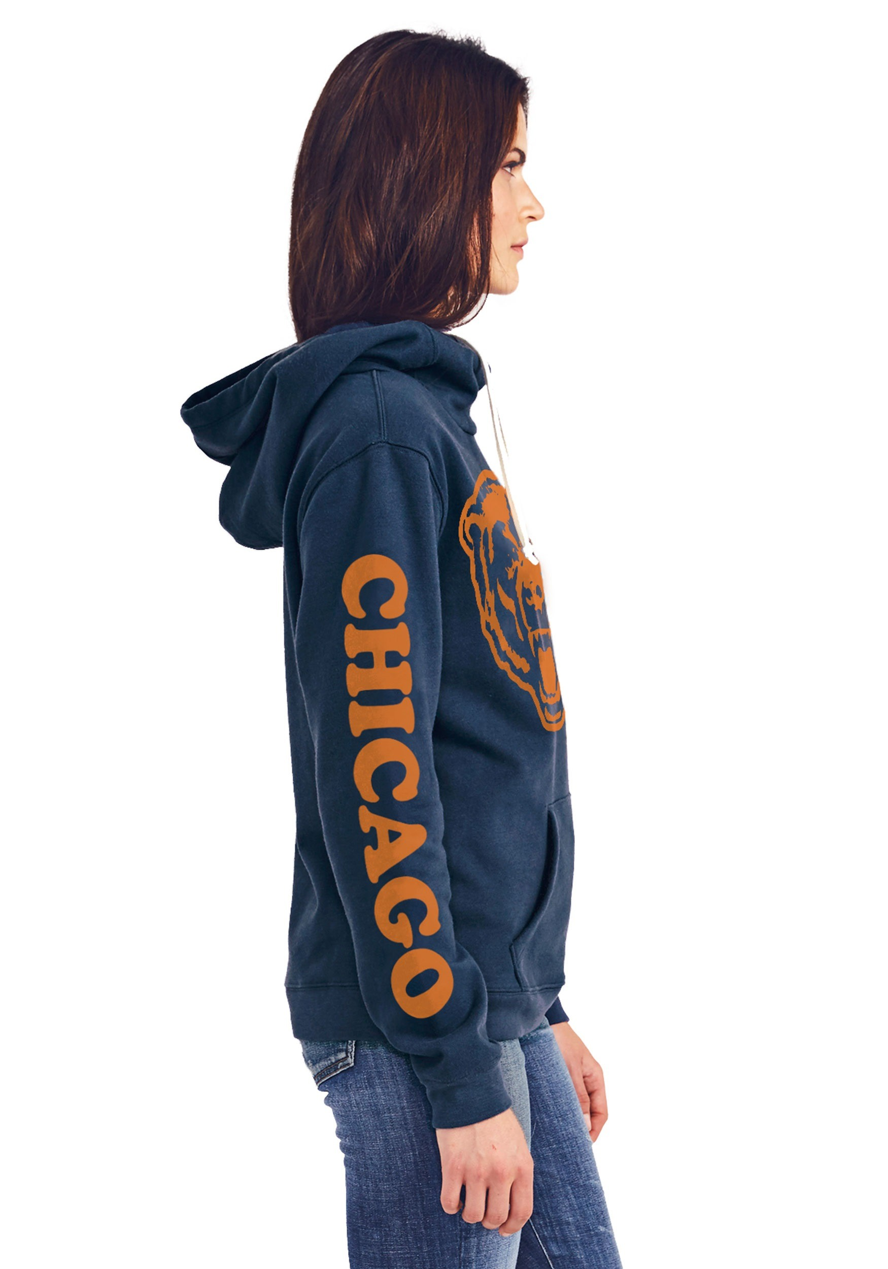 Chicago Bears Womens Cowl Neck Hooded Sweatshirt